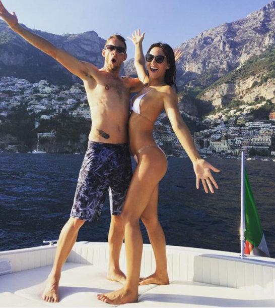 Jensonas Buttonas ir Brittny Ward