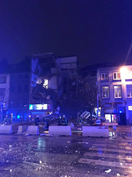 Antverpene sprogo gyvenamasis pastatas