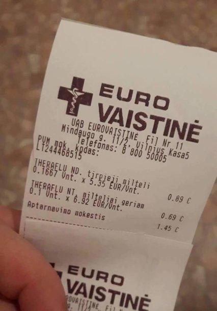 """""""Eurovaistinės"""" kvitas"""