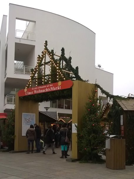 Įėjimas į Kalėdų mugę Ulme