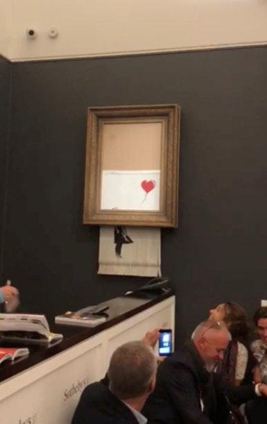"Banksy paveikslas ""Mergaitė su balionu"" (Girl With Balloon)"