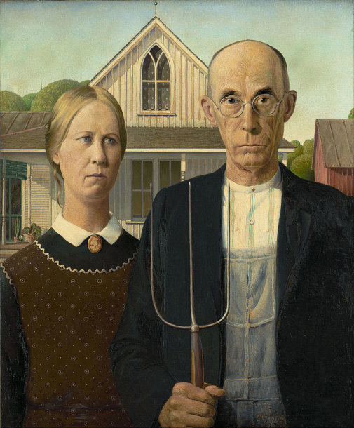 """Granto Woodo paveikslas """"Amerikietiška gotika"""""""