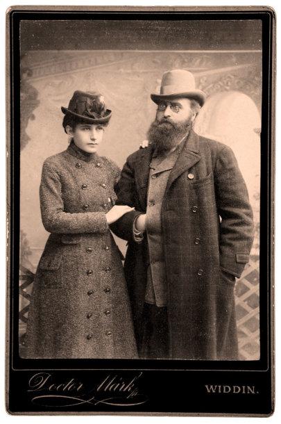 Jonas Basanavičius ir Gabrielė Eleonora Mohl. Apie 1885 m.
