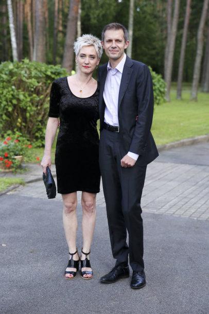 Andrius Tapinas su žmona Rasa