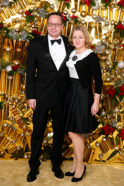 Žygimantas Pavilionis su žmona