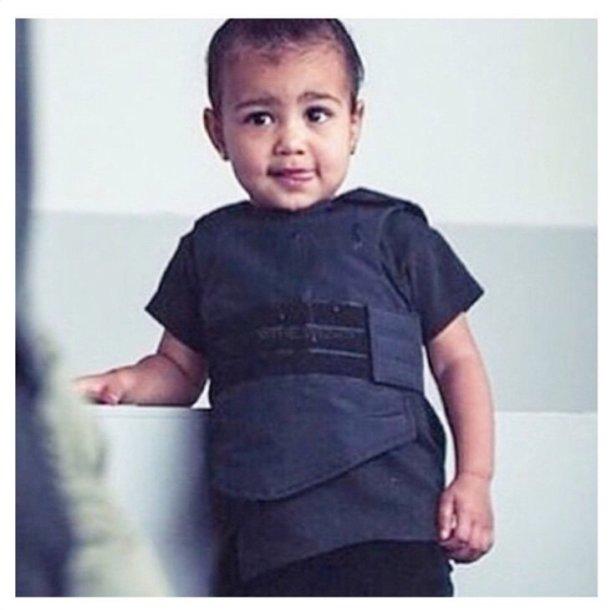 Kim Kardashian ir Kanye Westo dukra North