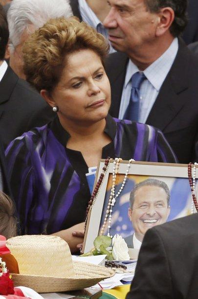 Eduardo Camposo laidotuvėse Brazilijos prezidentė Dilma Rousseff