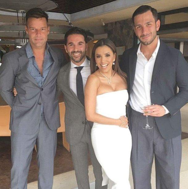 Ricky Martinas, Jose Antonio Bastonas, Eva Longoria ir Jwanas Yosefas