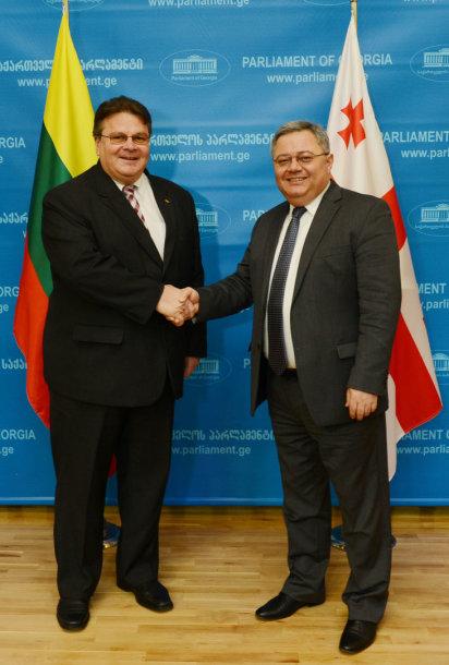 Linas Linkevičius su Parlamento pirmininku