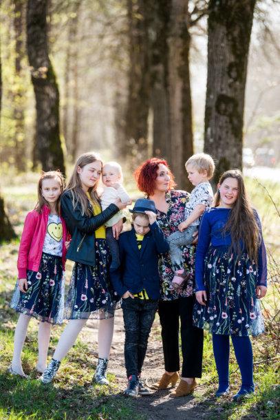 Jurgita Pocienė su šeima