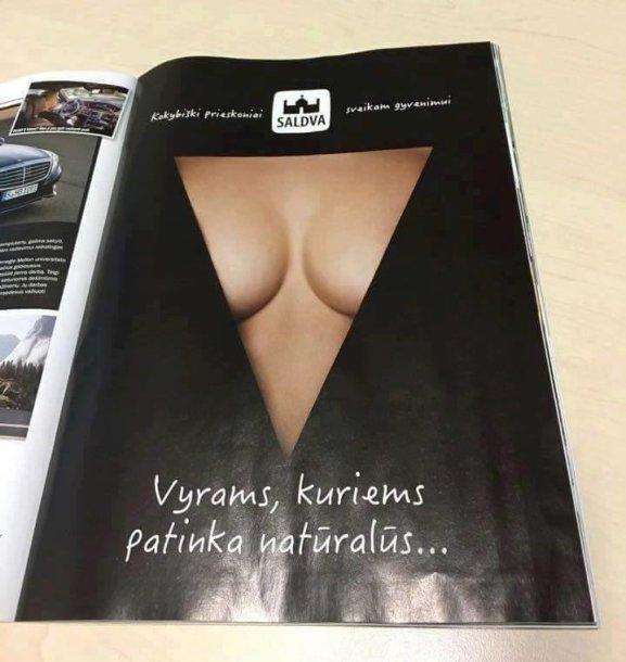 "\""Saldvos\"" reklama žurnale"