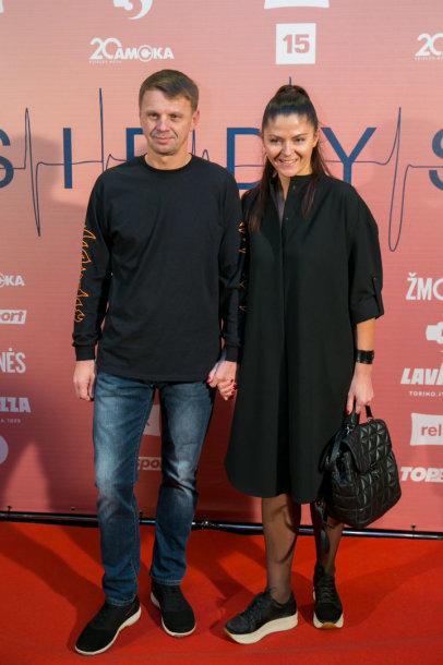 Rolandas Kazlas su žmona