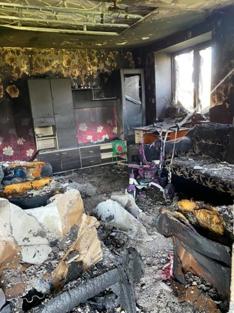 Po gaisro Mažeikių rajonešeima liko be namų