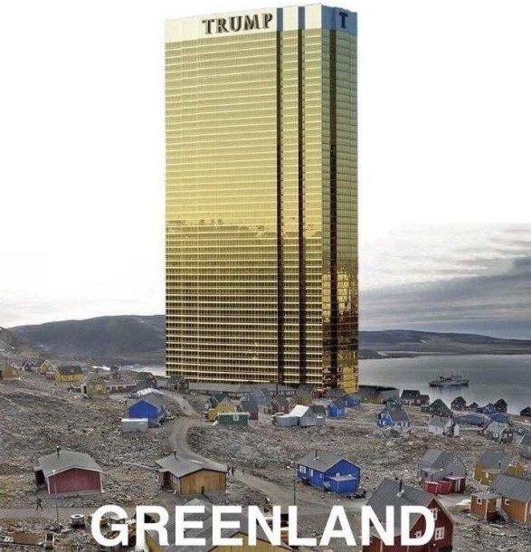 """D.Trumpas pareiškė neplanuojantis Grenlandijoje statyti """"Trumpo bokšto"""""""