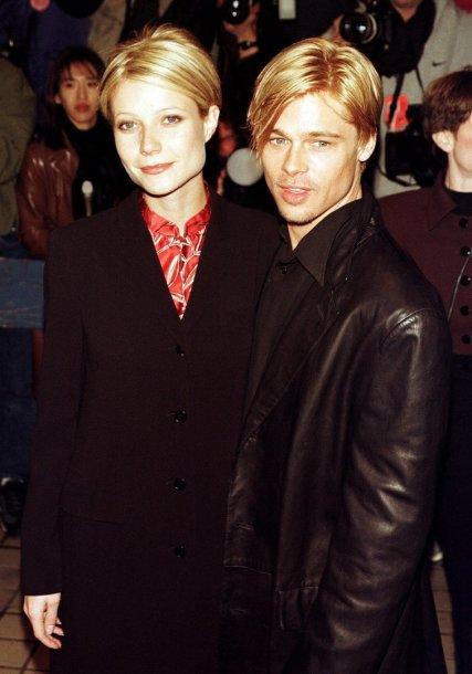 Gwyneth Paltrow ir Bradas Pittas 1997-aisiais