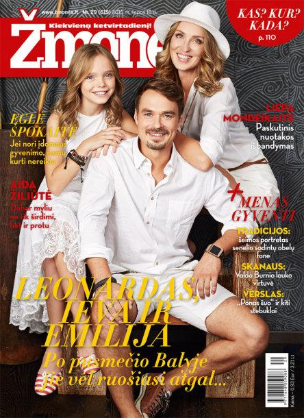 Leonardas Pobedonoscevas-Leo su žmona Ieva Šabane ir dukra Emilija