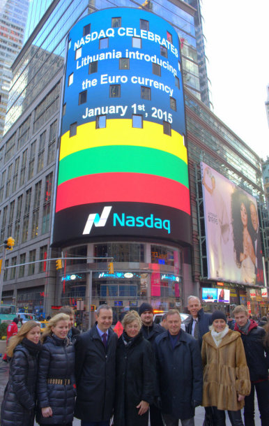 Sveikinimas Lietuvai Niujorke