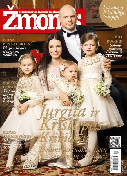 Jurgita ir Kristupas Krivickai su dukromis