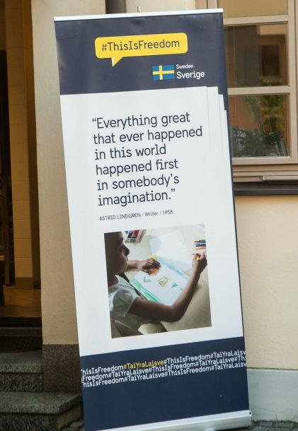 """Švedijos ambasada kviečia moksleivius rašyti, ką jiems reiškia """"laisvė"""""""