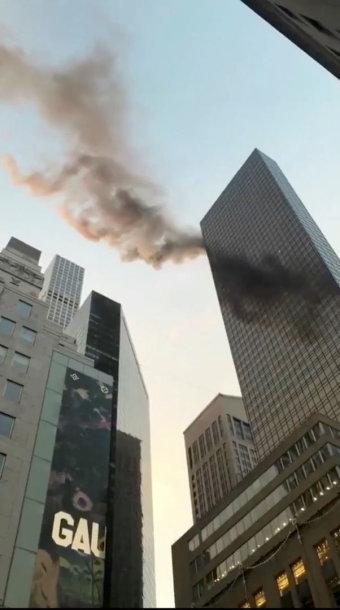 """Gaisras """"Trump Tower"""" dangoraižyje"""