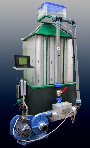 Vertikalus biofiltras-absorberis