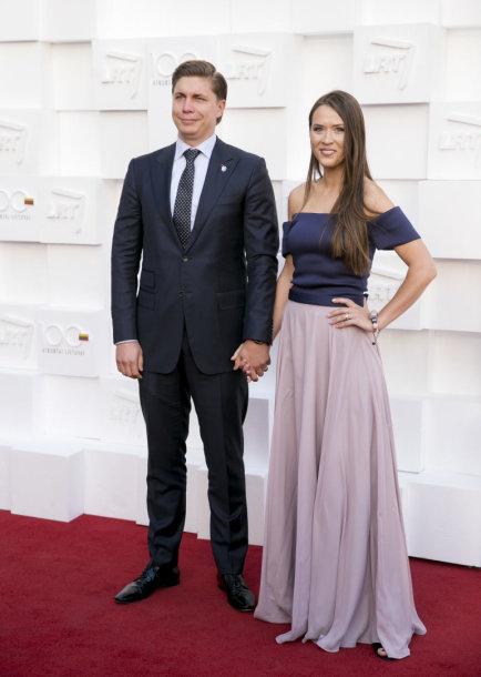 Mindaugas Sinkevičius su žmona Aiste