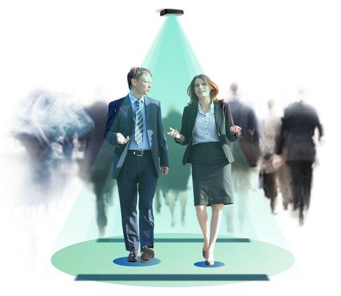 Sensoriai įvertina klientų srautą